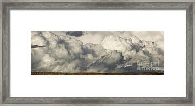 Storm And Sagebrush Desert  Framed Print by Yva Momatiuk John Eastcott