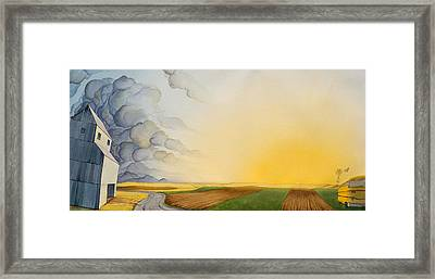 Storm And Sunset II Framed Print