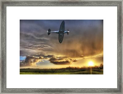Storm And The Spitfire Framed Print by Jason Green