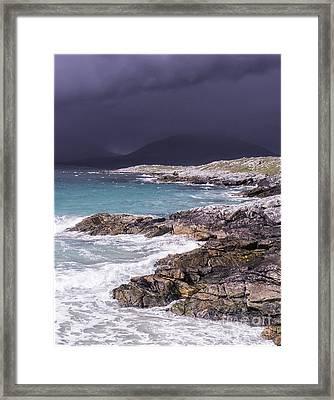 Storm Approaching Luskentyre Framed Print by George Hodlin