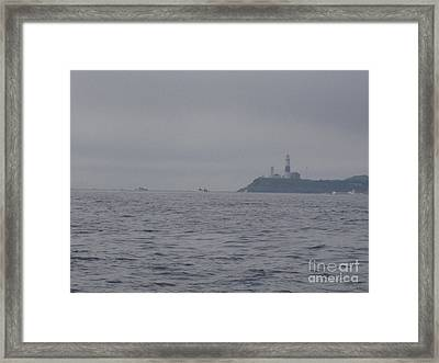 Storm Approaching Montauk Point Framed Print by John Telfer