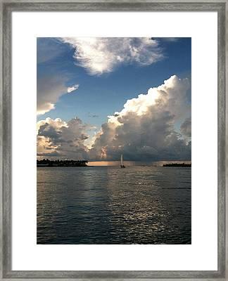Storm Approaching Framed Print by Sharin Gabl