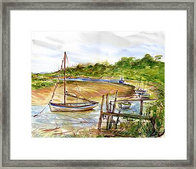 Storm At Bay Framed Print by William Rowsell