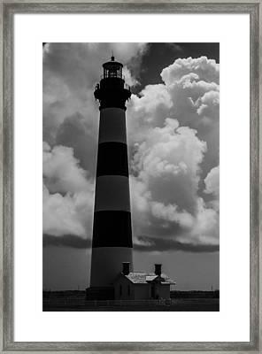 Storm At Bodie Light Framed Print