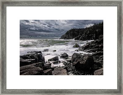 Storm At Gulliver's Hole Framed Print by Marty Saccone