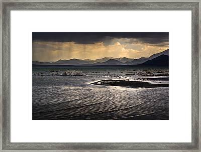 Storm At Mono Lake Framed Print