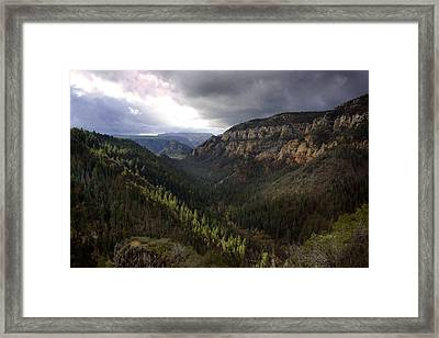 Storm At Oak Creek Canyon Framed Print