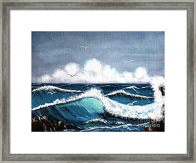 Storm At Sea Framed Print by Barbara Griffin