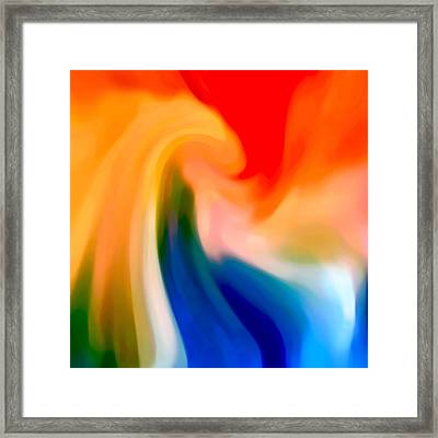 Storm At Sea Square 1 Framed Print by Amy Vangsgard