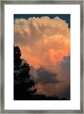 Storm At Sundown Framed Print