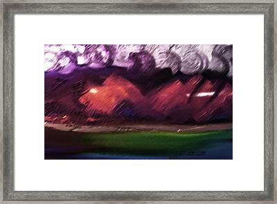 Storm At Sundown Framed Print by Lenore Senior