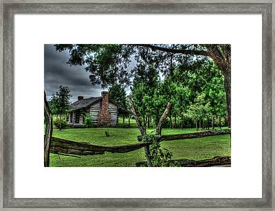 Storm At The Old Home Place Framed Print by Douglas Barnett