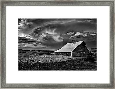 Storm Barn Framed Print by Latah Trail Foundation