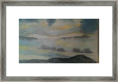 Storm Bay Framed Print