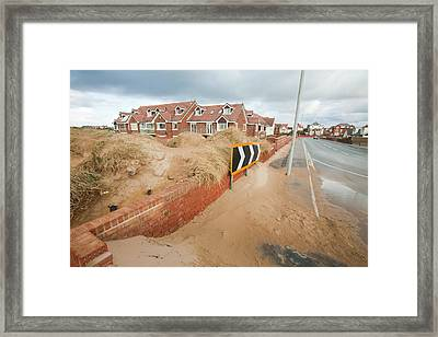 Storm Blown Sand Framed Print by Ashley Cooper