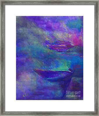 Storm Boats Framed Print by Claire Bull