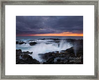 Storm Boil Framed Print