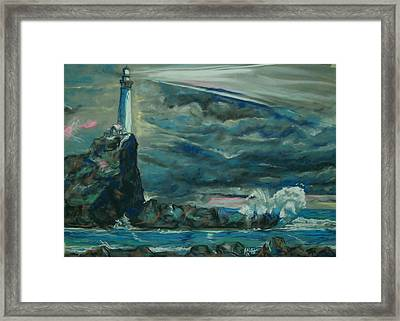 Storm Breaking Framed Print