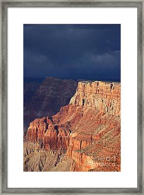Storm Brewing At Navajo Point  One Forty Two Framed Print by Donald Sewell