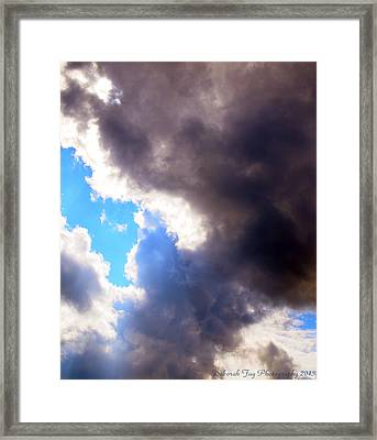 Framed Print featuring the photograph Storm Brewing by Deborah Fay
