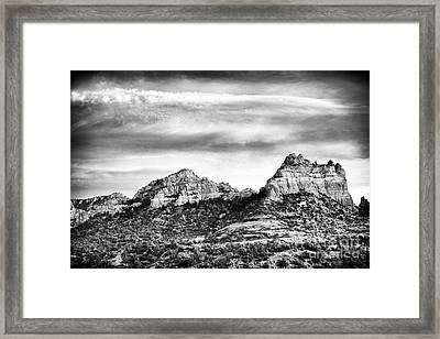 Storm Brewing In Sedona Framed Print by John Rizzuto