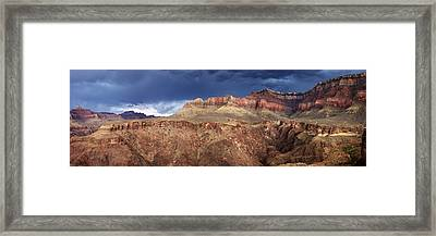 Storm Brewing In The Canyon Framed Print