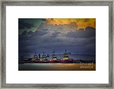 Storm Brewing Framed Print by Marvin Spates