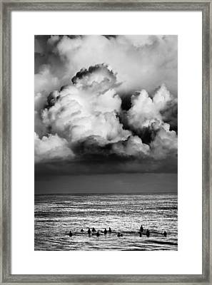 Storm Brewing Over Pipeline Framed Print by Sean Davey