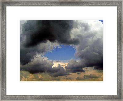 Framed Print featuring the photograph Storm Brewing by Tamyra Crossley