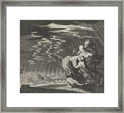 Storm, Caspar Luyken, Jan Luyken, Christoph Weigel Framed Print