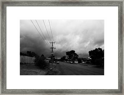 Framed Print featuring the photograph Storm Closing In  by Naomi Burgess
