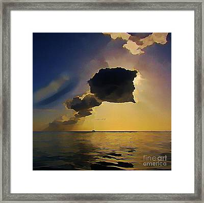 Storm Cloud Over Calm Waters Framed Print