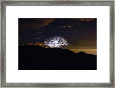 Storm Cloud Over The Mummy Range Framed Print by Keith Ladzinski