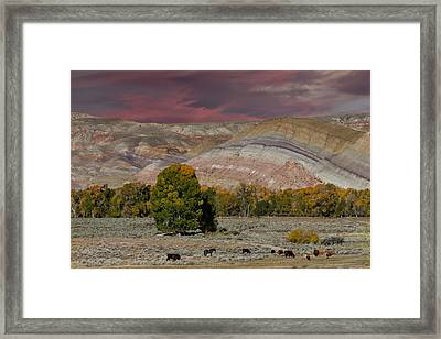 Storm Clouds Above The Wind River Basin Framed Print