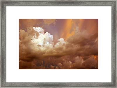 Storm Clouds Framed Print by Andrea Kelley