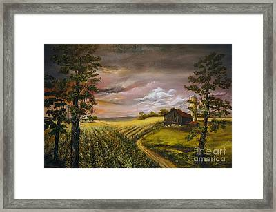 Framed Print featuring the painting Storm  Clouds by Anna-Maria Dickinson