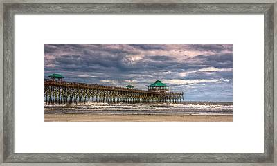 Storm Clouds Approaching - Hdr Framed Print