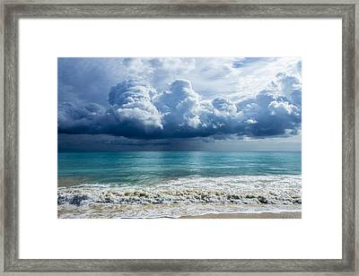 Storm Clouds At Waimanalo Framed Print