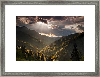 Storm Clouds Breaking Framed Print by Andrew Soundarajan