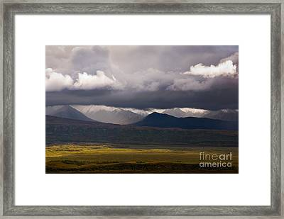 Storm Clouds, Denali National Park Framed Print by Ron Sanford