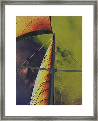Framed Print featuring the photograph Storm Clouds by Diane Miller