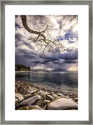 Storm Clouds From Cave Rock Framed Print