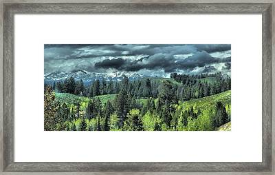 Storm Clouds In The Tetons Framed Print by Dan Sproul