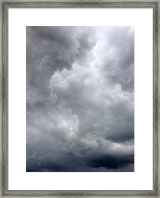 Storm Clouds Framed Print by Les Cunliffe