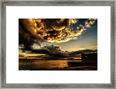 Framed Print featuring the photograph Storm Clouds by Linda Karlin