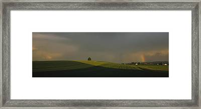 Storm Clouds Over A Field, Canton Of Framed Print by Panoramic Images
