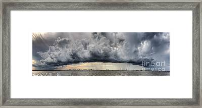 Storm Clouds Over Charleston South Carolina Framed Print