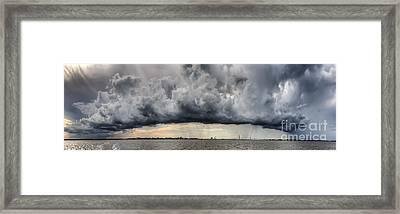 Storm Clouds Over Charleston South Carolina Framed Print by Dustin K Ryan