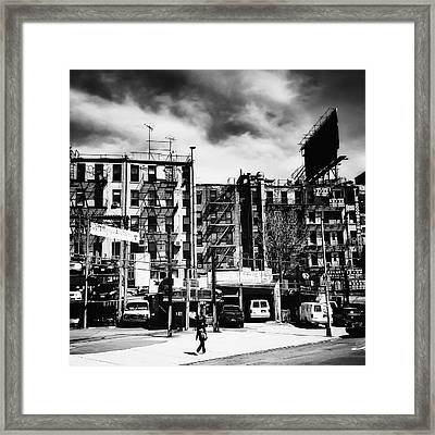 Storm Clouds Over Chinatown - New York City Framed Print