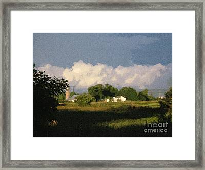 Storm Clouds Over Michigan Farm At Sunrise Framed Print